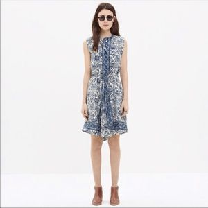 Madewell Blue and White floral Journey Dress M